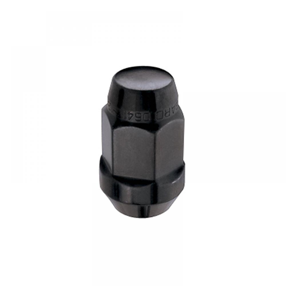M14 x 1.5 Thread Size McGard 64074 Chrome//Black Set of 4 Bulge Cone Seat Style Lug Nut,